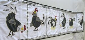 """Machine sewing patchwork and applique handmade size 17""""x  74""""table runner"""