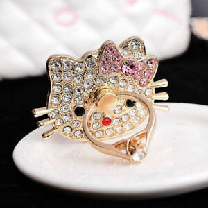 LiliDreamStore Universal Crystal Finger Ring Stand Holder for Cell Phone Tablet