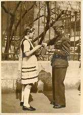 Paris mai 1940, la fête nationale polonaise Vintage silver print Tirage ar