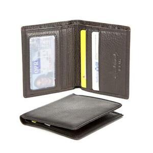 NWT Osgoode Marley Genuine Leather Black Leather RFID ID Bifold
