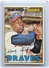 1967 TOPPS BASEBALL #250 HANK AARON, ATLANTA BRAVES, HOF, 112615