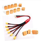 5 Pairs Golden XT60 Bullet Connectors Plugs Male & Female For RC LiPo Battery