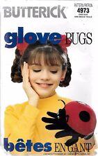UNCUT Butterick 4973 Folkmanis glove bug ladybug sewing pattern hand puppet