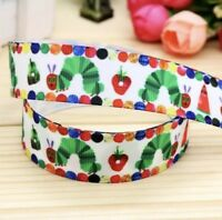 NEW Very Hungry Caterpillar Grossgrain Ribbon 7/8 Inch Length 1M,2M,3M,4M or 5M