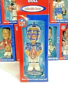 Peyton Manning #18 Colts NFL QB Club Players Inc Collectible Series Bobblehead