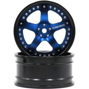 2pcs RC 1/10 Aluminium Alloy Wheels Rim Fit 1:10 On Road Drift Touring Car tires