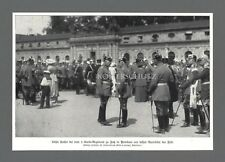 Fotodruck 1. Garde Regiment zu Fuß in Potsdam Kaiser Heerführer Adel WWI 1914