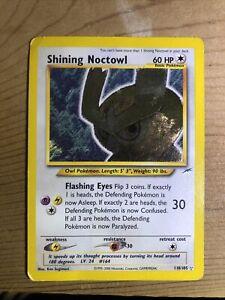 Shining Noctowl (110/105) Neo Destiny Holo Rare Pokémon Card (READ)