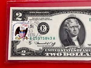 1976 $2 TWO DOLLAR BILL ( RICHMOND ) Stamp , UNCIRCULATED