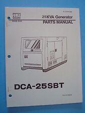 MQ Power 25KVA Generator  DCA-25SBT  Parts Manual  No. B18744 00204