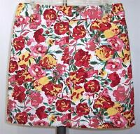 Ann Taylor Loft Floral Mini Skirt Above-Knee 6 Multi-Color Pencil Straight