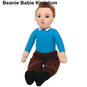"TY BEANIE BABIE * TIN TIN * FROM THE ADVENTURES OF TINTIN 10"" TALL"
