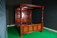 UK STOCK Super King size TUDOR style BED MAHOGANY hardwood canopy four poster