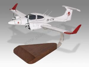 Diamond DA42 L3 Airline Academy Solid Mahogany Wood Handmade Desktop Model