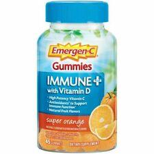 Emergen-C Immune Plus with Vitamin D Super Orange Flavor Gummies - 45 Count