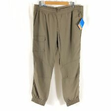 Columbia Womens Pants Nylon Jogger Cargo Pull On Drawstring UPF 50 Brown Size 1X