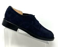 Tod's Mens Size 6 US 7 Navy Blue Suede Plain Toe Oxford Derby Dress Shoes