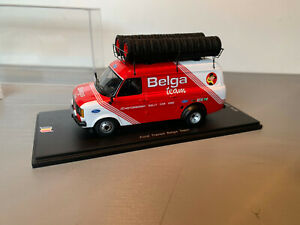 RALLY 1/43 SPARK FORD TRANSIT SERVICE ASSISTANCE BELGA DROOGMANS YPRES 234/500