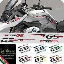 Kit Adesivi Fianco Serbatoio Moto BMW R 1200 gs LC fasce e becco 2 colori