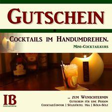 Gutschein: Cocktails im Handumdrehen. Mini-Cocktailkurs in Köln.