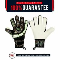 Football Goalkeeper Gloves Cool 03 Kids black gold flat Fingersave Goalie Gloves