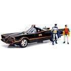 Jada Toys 1/18 Batmobile (Classic TV Series) with Batman & Robin Figures Minicar