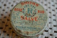 Smith's Rosebud Salve Rosebud Perfume Co. Woodsboro, Maryland Vntg New Full Tin
