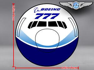 BOEING 777 B777 DREAMLINER LIVERY FRONT VIEW ROUND DECAL / STICKER