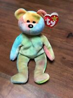 1993 RARE TY BEANIE BABY GARCIA THE BEAR #4051 ERRORS ON TAG PVC PELLETS