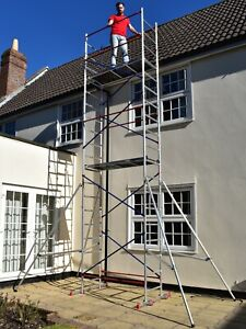 DIY Scaffold Tower - Home Master Aluminium Towers - Quick Assembly - 4-7m Height