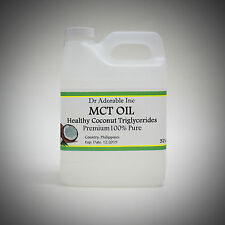 32 OZ PURE PREMIUM MCT OIL 100% COCONUT SOURCED VEGAN NATURAL by DR.ADORABLE