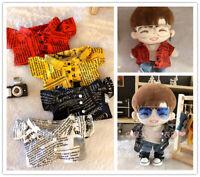 20cm Wanna one Daniel EXO Chanyeol Plush Doll's Clothes Handmade Shirt【NO DOLL】