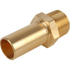 NEW Compressed Air Male Brass Stem Adaptor 15mm x 1/2 BSPT Each