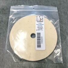 """5"""" Velcro Backed Felt Disk for Polishing Glass, 1/2 arbor, Angle Grinder Disk"""