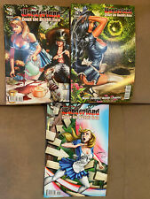 Grimm Fairy Tales Presents Wonderland Down The Rabbit Hole #3 - #5 Comic Set