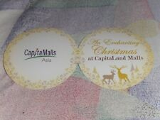 Brand New 5 Christmas Capitaland Mall Gift tag *Free Post