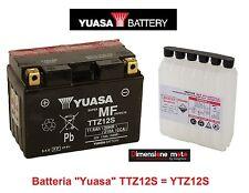 """Batteria YUASA TTZ12S 12V 11Ah = YTZ12S """"MF"""" per Honda SH 300 dal 2007 al 2010"""