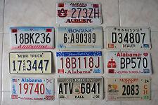 Lotto 10 targhe americane - USA license plate - RARE ORIGINALI E CIRCOLATE