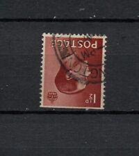 Vintage Gb Edward Viii 1 1/2d brown inverted watermark nice used