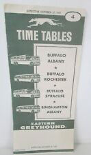 Vintage Eastern Greyhound Time Tables Bus Schedule October 27th 1957 New York