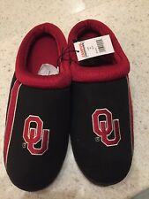 NCAA Campus Footnotes Oklahoma Sooners Men's Med Slippers, Size 9/10 NEW