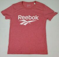 Reebok Women's Short Sleeve Heather Pink Graphic T-Shirt