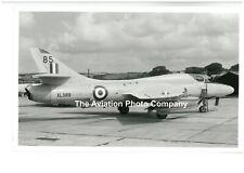 RAF 229 OCU Hunter T.7 XL569 at Chivenor (1969) Vintage Photograph