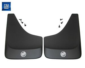 84-87 Buick Regal Grand National Black Contoured Mud Flaps W/ Logo NEW GM PAIR