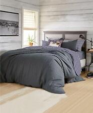 G.H. Bass & Co. Bass Textured Flannel Striped 3 Pc King Comforter Set Grey