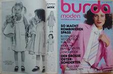 BURDA Mode 78/03 Mars Pâques CORSAGE CORSELET poupée barbie 70er Magazine