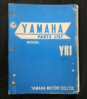 "1968 1969 YAMAHA ""MODEL YR1 350cc"" MOTORCYCLE PARTS CATALOG MANUAL NICE"