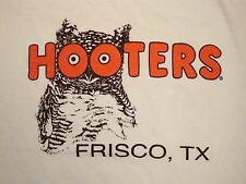 Hooters in Firsco Texas TX Souvenir Wings Beer & Girls White T Shirt M