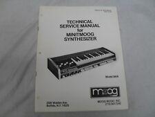 Moog Minitmoog Service Manual, Used But In Good Condition