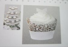 Pack of 10 CUPCAKE WRAPPERS Wraps Cases Wedding Birthday Cake | Butterfly Design